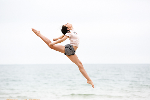 Gymnastic portrait